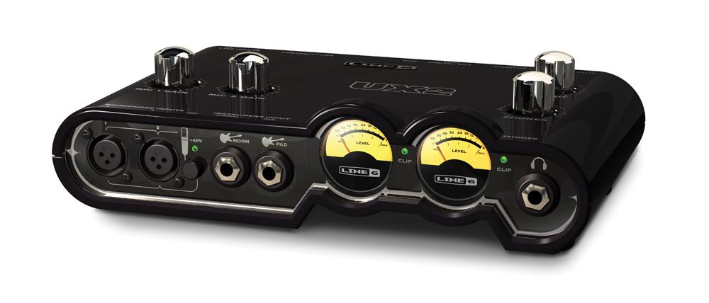 line 6 pod studio ux2 the test back in black audiofanzine