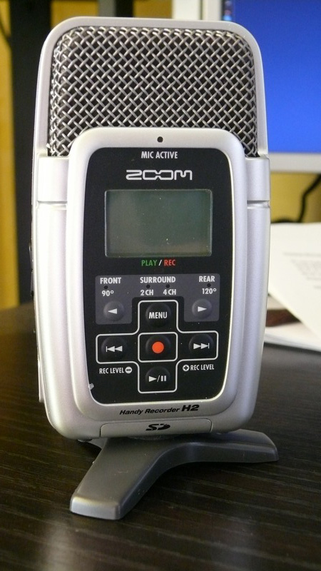 how to use zoom h2 recorder