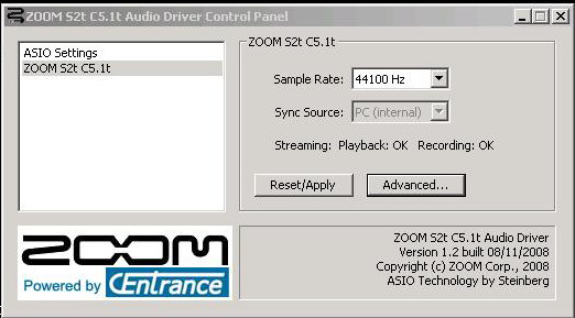 DOWNLOAD DRIVER: ZOOM S2T ASIO